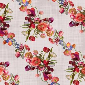flower garland linen
