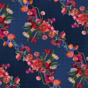 flower garland denim