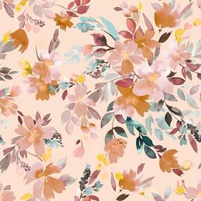 Summery Oleander floral Soft pink