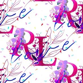 Riko & Lili Pink on White