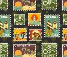 Surfing the World Stamp Collection / Medium Scale