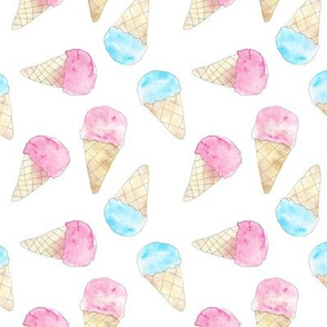 Soft pastel ice cream babies - icecream cones for sweet nursery