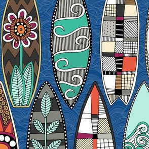 surfboards blue