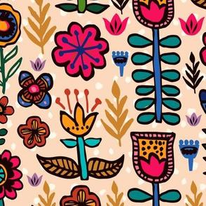 Scandi Flowers Hand-drawn