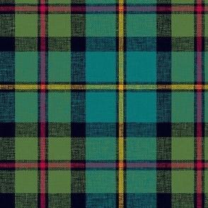"""MacLeod of Harris / green MacLeod / MacLeod hunting tartan, 6"""" muted with slubs"""