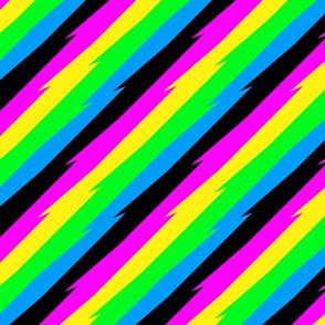 jagged neon stripe