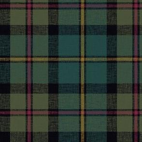 "MacLeod of Harris / green MacLeod / MacLeod hunting tartan, 6"" darkened muted with slubs"