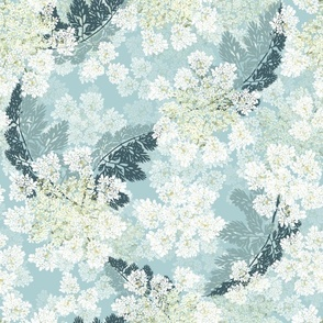 Hand-Drawn Queen Annes Lace | Crystal