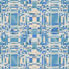 Aqua and Beige Complicated Geometric © Gingezel™ 2012
