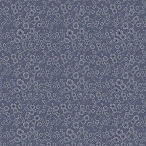 Ditsy Denim Poppy Print
