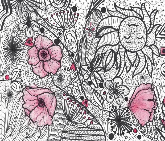 OPTICAL POPPY FLOWERS LS