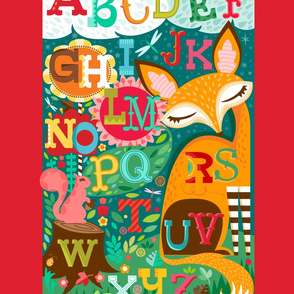 Fox & Squirrel Alphabet 2-Up Yard