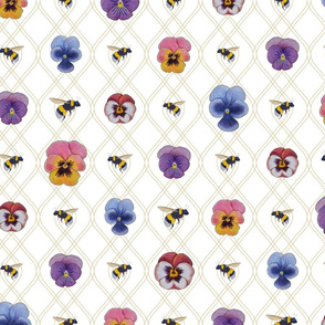 Bees in the Pansies