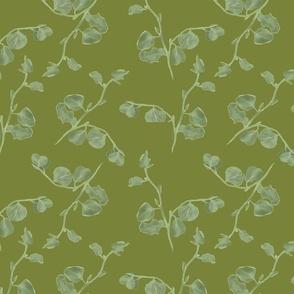 Saltbush- on green