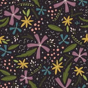 Midnight Floral tossed | dark