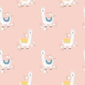 happy llama peach - M