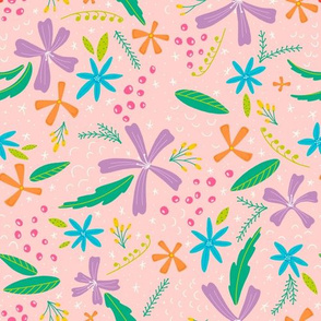 Morning Bright Floral Tossed | Light Pink