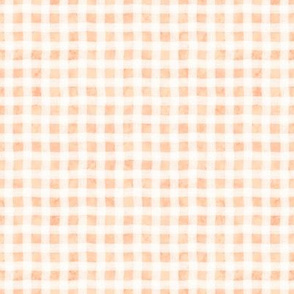 Peach Marble Wonky Gingham