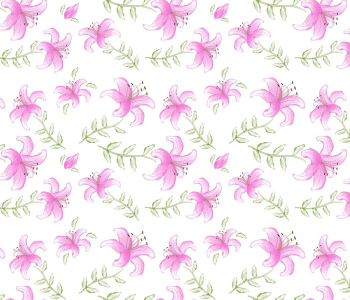 pink ink lilies-for my lilly girl