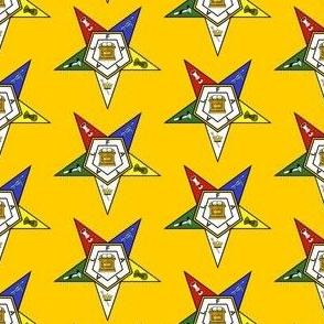 "Large 2"" Yellow Eastern Star Standard Symbol"