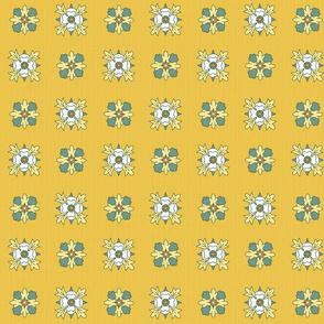 geometric rosettes yellow medium