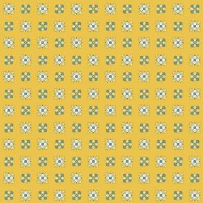 geometric rosettes yellow small
