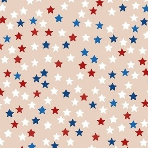 Little sparkly stars romantic boho night basic sky design nursery neutral warm american traditional flag color red blue MEDIUM