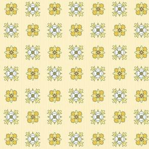 geometric rosettes light yellow medium