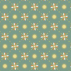 geometric stars spring green medium