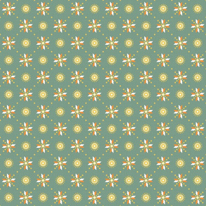 geometric stars spring green small
