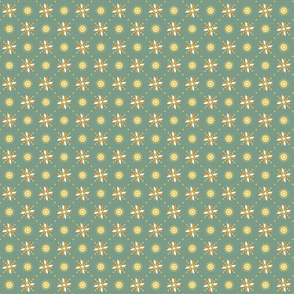 geometric stars spring green tiny