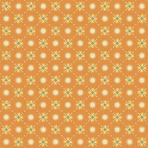 geometric stars foulard orange small
