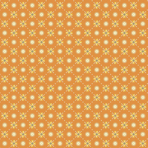 geometric stars foulard orange tiny