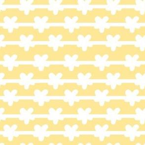 white stripes on yellow medium