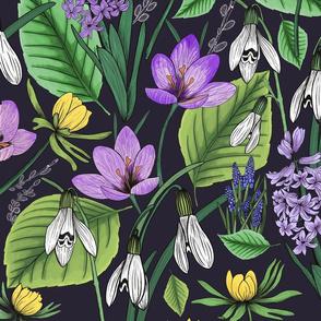Springtime florals - dark