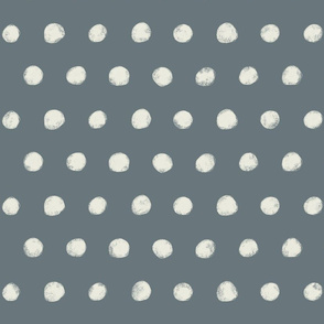 Textured Polka Dots on Grey