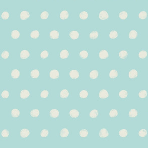 Textured Polka Dots on light teal
