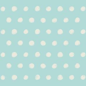 Textured Polka Dots on light teal
