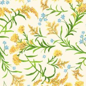 Wind Blown Goldenrod Floral