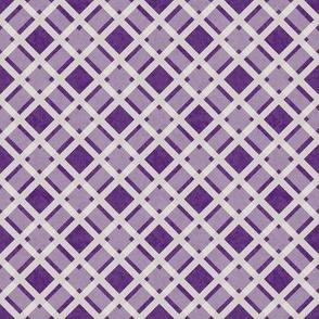 White Lattice on Dusty Purple Texture
