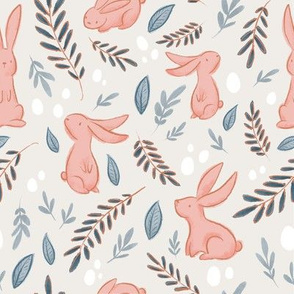Pink Rabbits on Cream