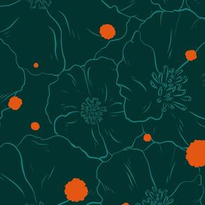Polka Poppy - Lush Green