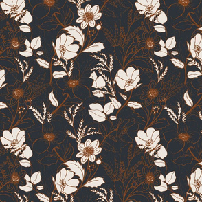 be gentle // hand drawn floral pattern