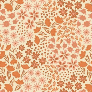All the Flowers - Cream Pink