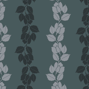 silhouette rose vine // earthy green desaturated