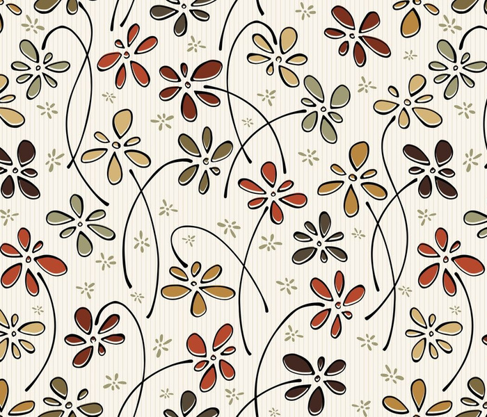 doodling flowers - hand-drawn roycroft floral