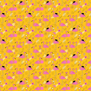 Flamingos_pattern_yellow