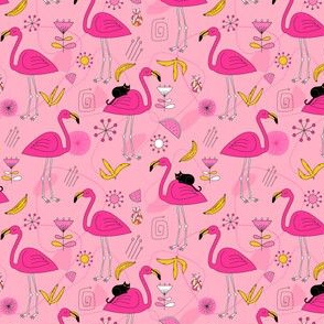 small Flamingos_pattern_lightpink