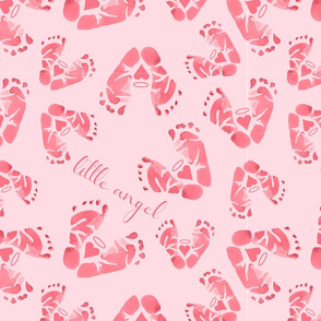 Baby Girl Angel Feet