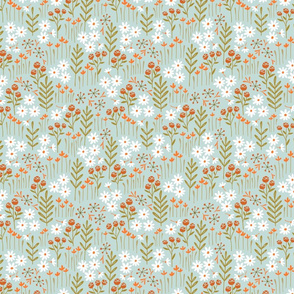 Lewis Floral (pale blue) (small scale)